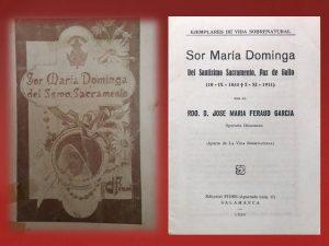 1934 - Sor María Dominga del Ssmo Sacramento (ejemplares de vida sobrenatural) - Editorial Salamanca