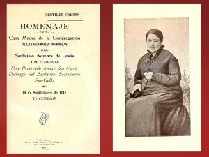 1917 - Homenaje en la Casa Madre de HH Dominicas - Clotilde Cortés